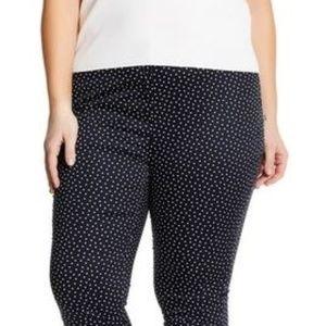 Amanda & Chelsea Polka Dot Ankle Pants (Plus Size)